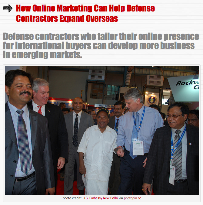 How Online Marketing Can Help Defense Contractors Expand Overseas
