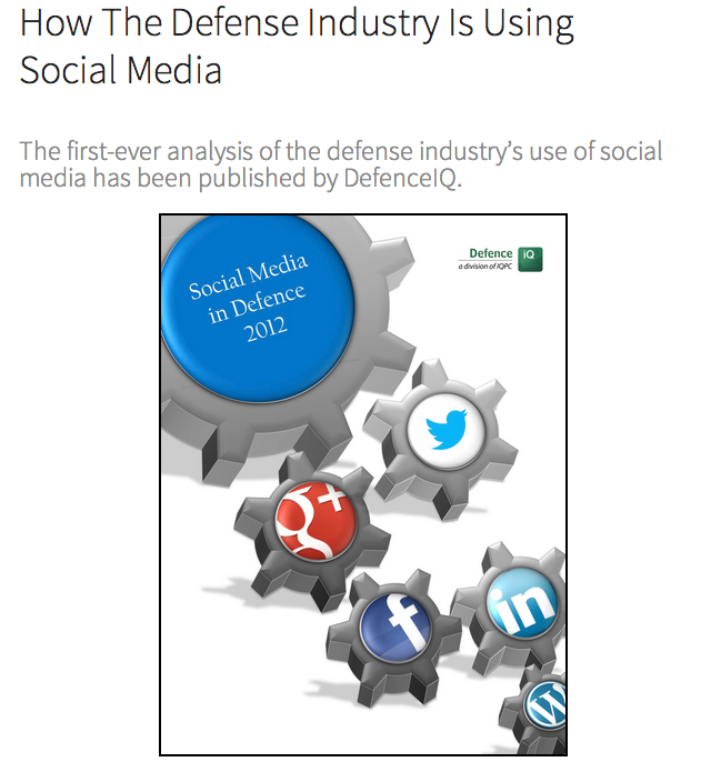 How The Defense Industry Is Using Social Media