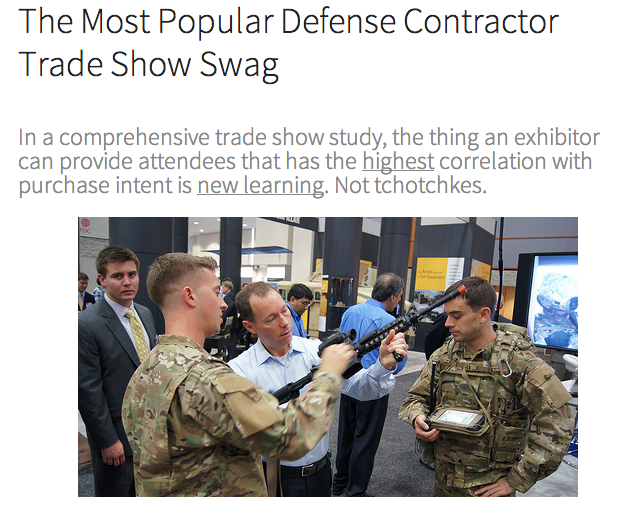The Most Popular Defense Contractor Trade Show Swag