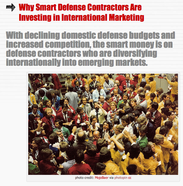 Why Smart Defense Contractors Are Investing in International Marketing