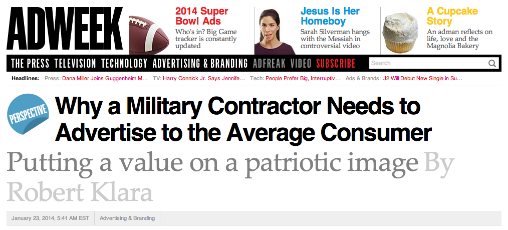 Why a Military Contractor Needs to Advertise to the Average Consumer