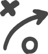 x and o arrow